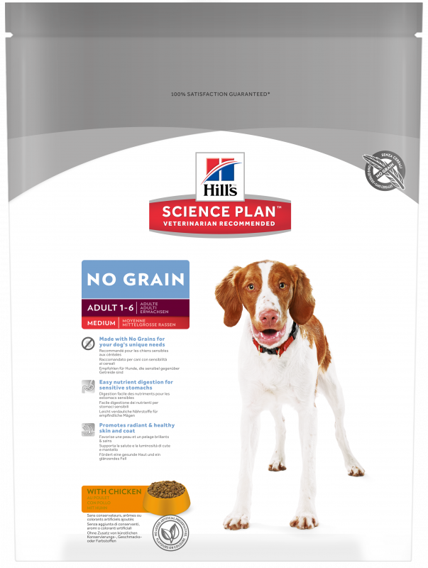 Hill's Science Plan Canine Adult No Grain Medium med Kyckling 800 g