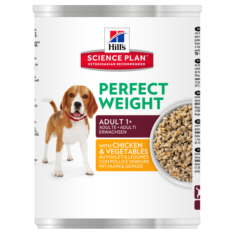 Hill's Science Plan Canine Adult Perfect Weight Pollo y Verduras 363 g 0052742364308 opiniones