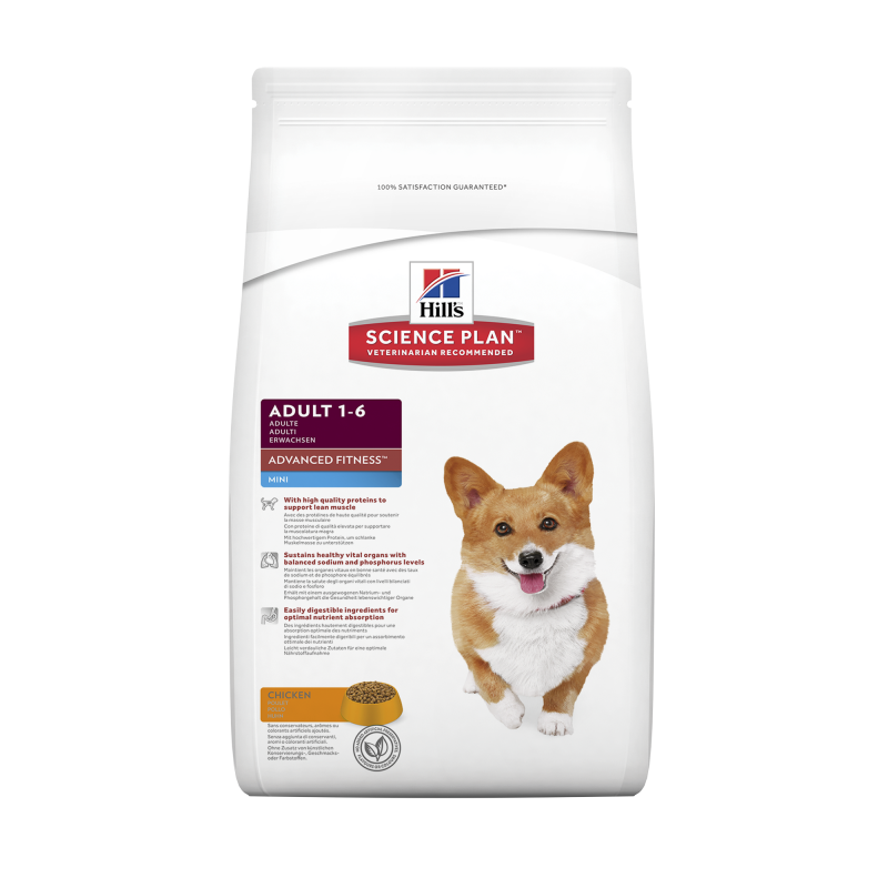 Hill's Science Plan Canine Adult Advanced Fitness Mini Kana 800 g, 7 kg, 2.5 kg