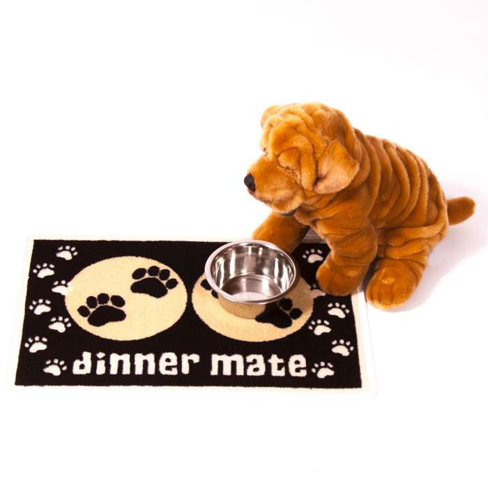 Pet Rebellion Dinner Mate Zwart 40x60 cm Zwart