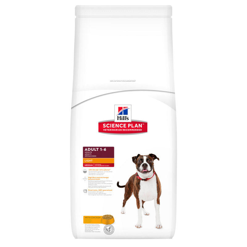Hill's Science Plan Canine Adult Light Medium med Kylling 3 kg