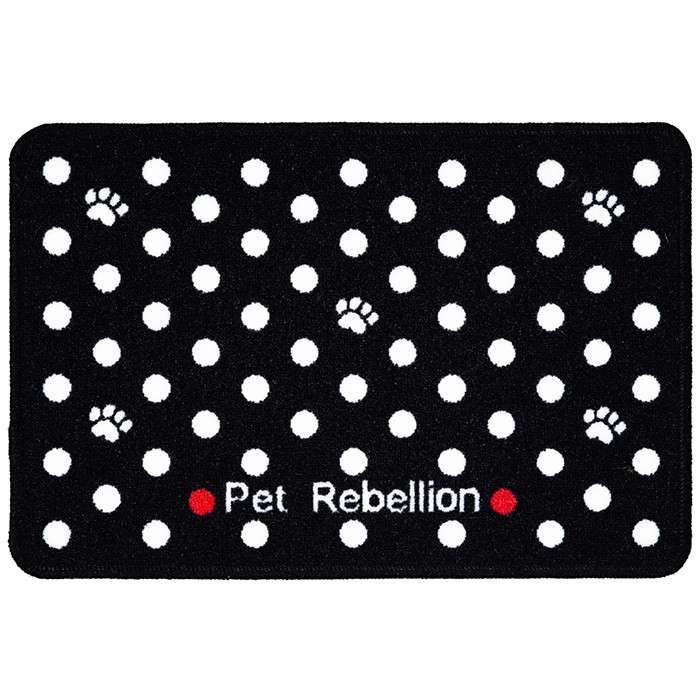Pet Rebellion Dinner Mate Dotty Black 1148217545545