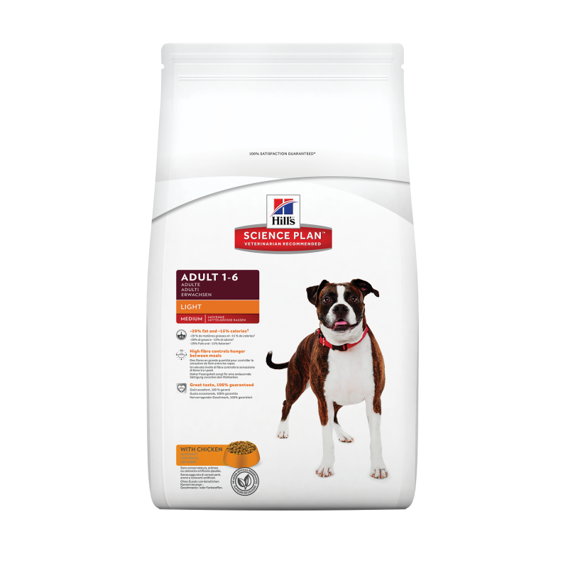 Hill's Science Plan Canine Adult Light Medium med Kylling 12 kg 0052742757001 erfaringer