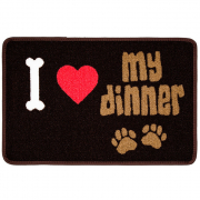 Pet Rebellion Dinner Mate I Love My Dinner 40x60 cm