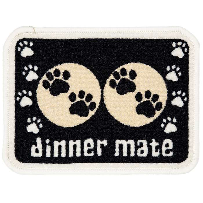 Pet Rebellion Dinner Mate Zwart Mini  30x40 cm Zwart