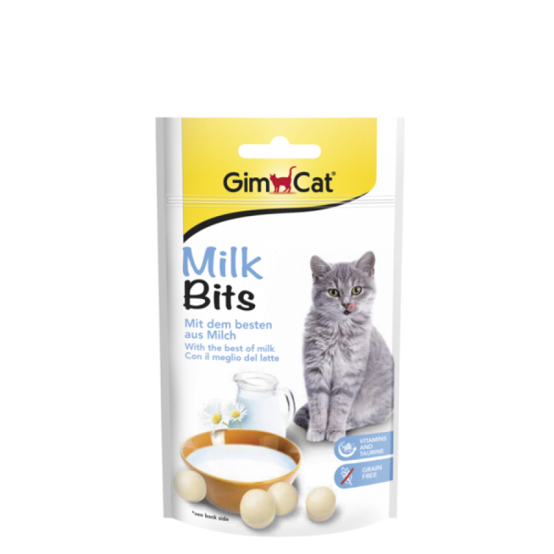 GimCat MilkBits 40 g, 425 g, 140 g test