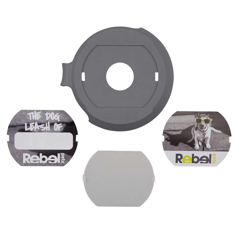 Rebel Petz Cover Up + Flexi Classic Cable Negro  Gris S