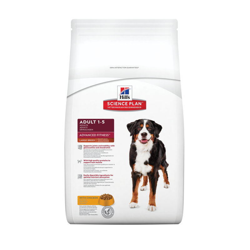 Hill's Science Plan Canine Adult Advanced Fitness Large Breed Kip 12 kg, 18 kg, 3 kg