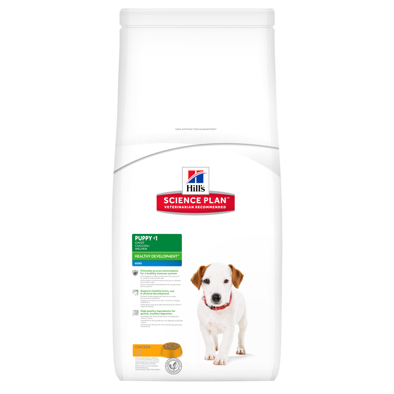 Hill's Science Plan Canine - Puppy Healthy Development Mini con Pollo 3 kg 0052742891804 opiniones