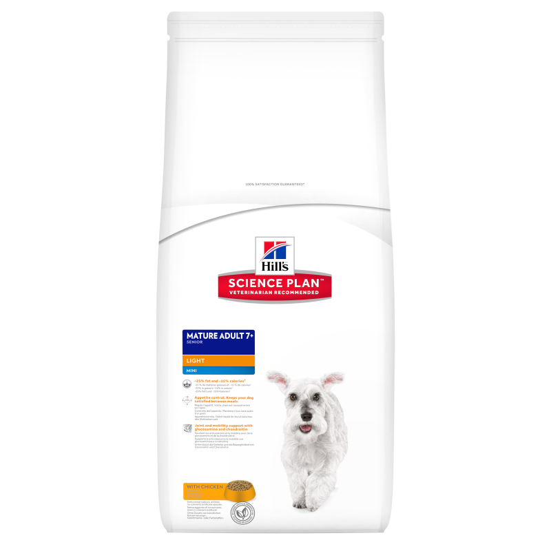 Hill's Science Plan Canine Mature Adult 7+ Mini Light Poulet 2.5 kg 0052742170008 avis