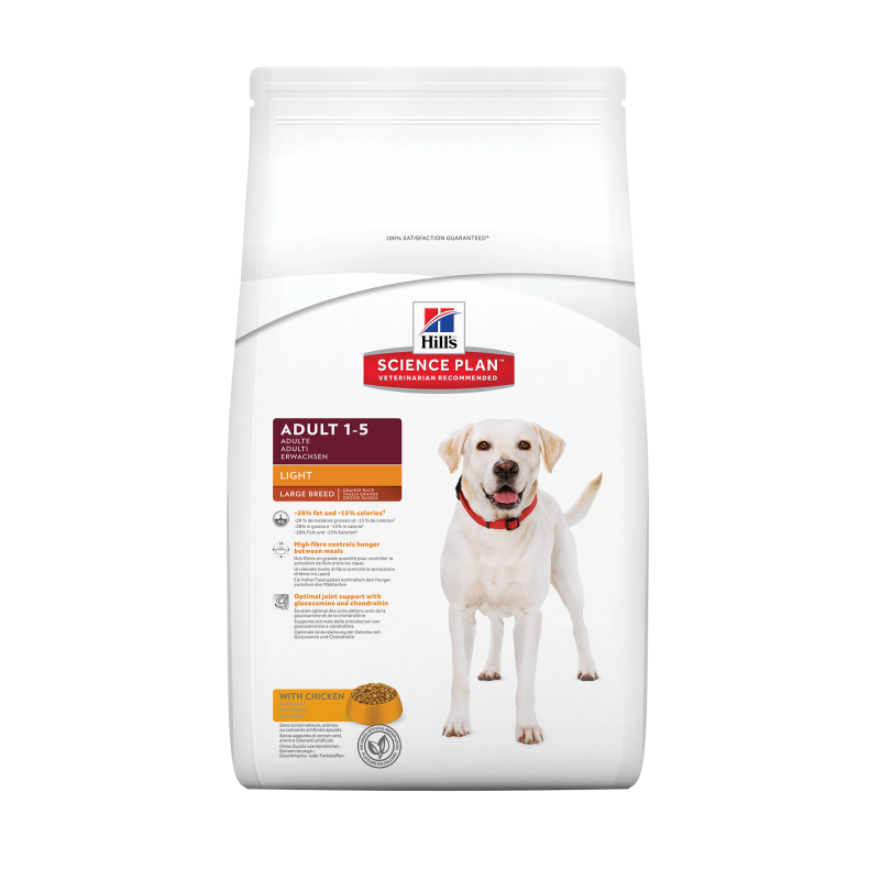 Hill's Science Plan Canine Adult Light Large Breed Kip 12 kg 0052742754505