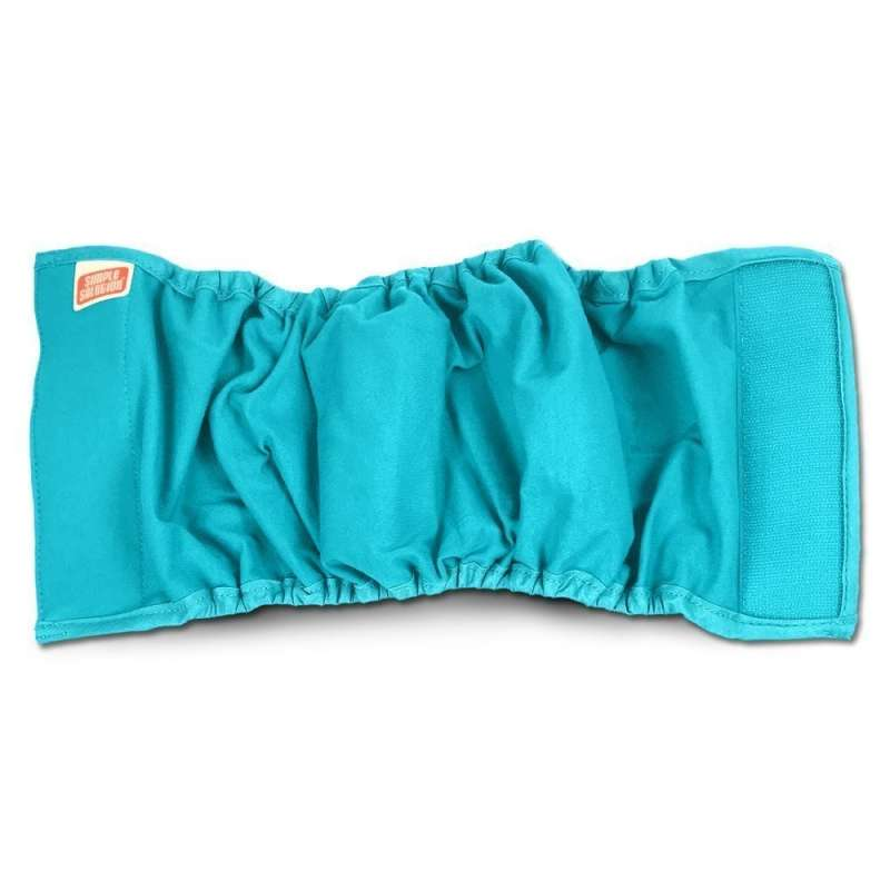 Simple Solution Pañal Masculino Lavable para Perros Small S Aqua
