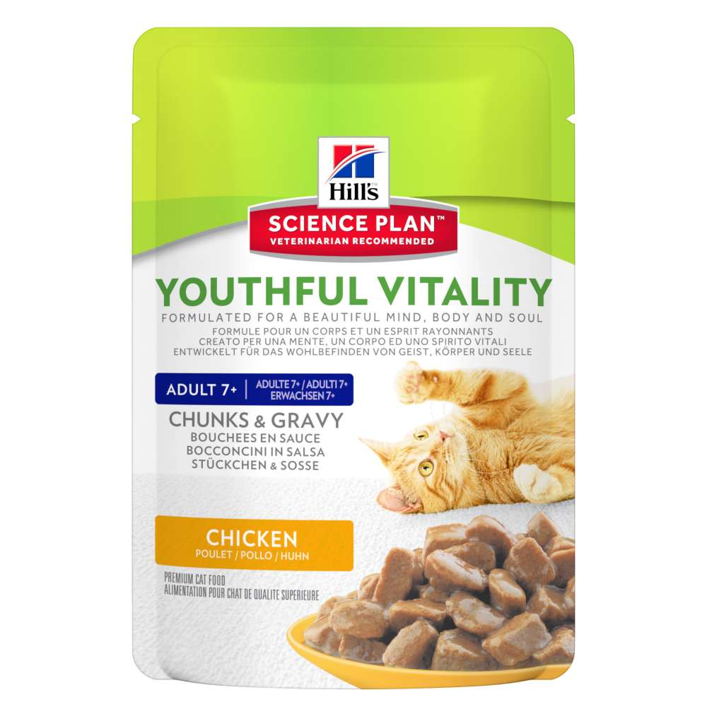 Hill's Science Plan Feline Adult 7+ Youthful Vitality Chicken 85 g osta edullisesti