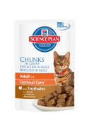 Science Plan Feline Adult Optimal Care met Kalkoen in Saus 85 g