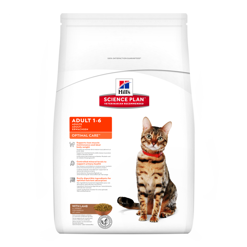 Hill's Science Plan Feline Adult Optimal Care Lam 5 kg 0052742873909 erfaringer