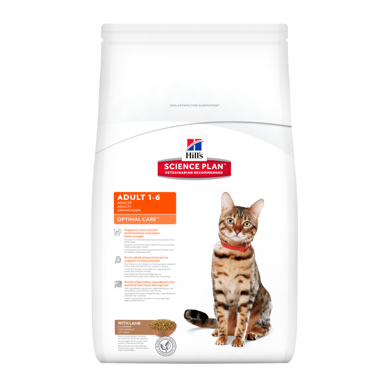 Hill's Science Plan Feline Adult Optimal Care Lam 10 kg