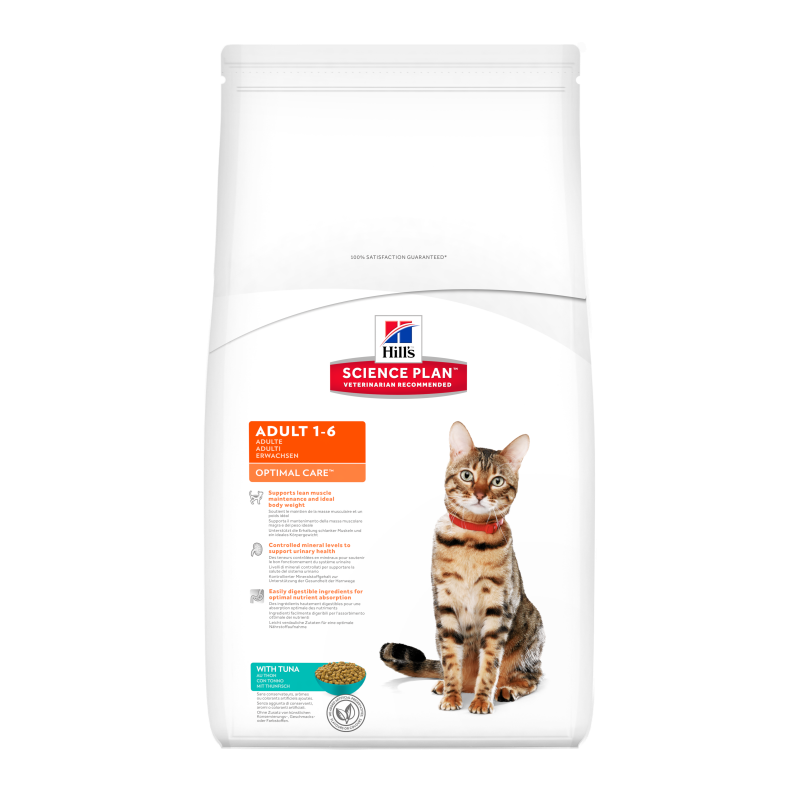 Hill's Science Plan Feline Adult Optimal Care Tunfisk 2 kg, 400 g, 5 kg, 10 kg, 15 kg