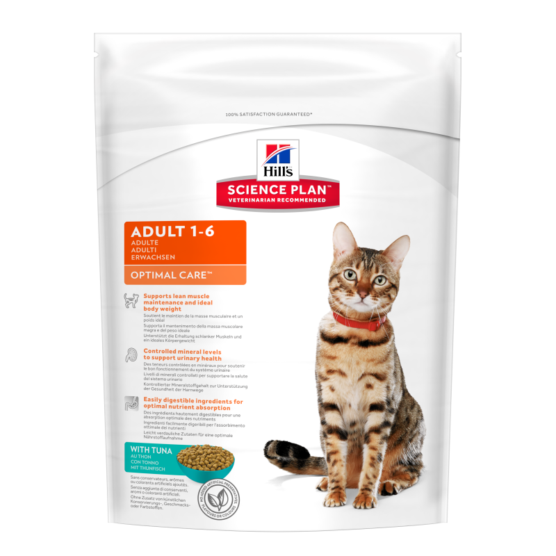 Hill's Science Plan Feline Adult Optimal Care Tunfisk 400 g 0052742873909 erfaringer