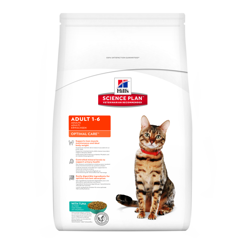 Hill's Science Plan Feline Adult Optimal Care Tunfisk 5 kg