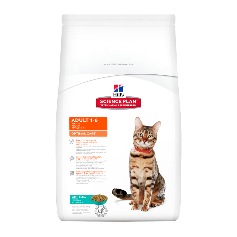 Hill's Science Plan Feline Adult Optimal Care Tunfisk 10 kg