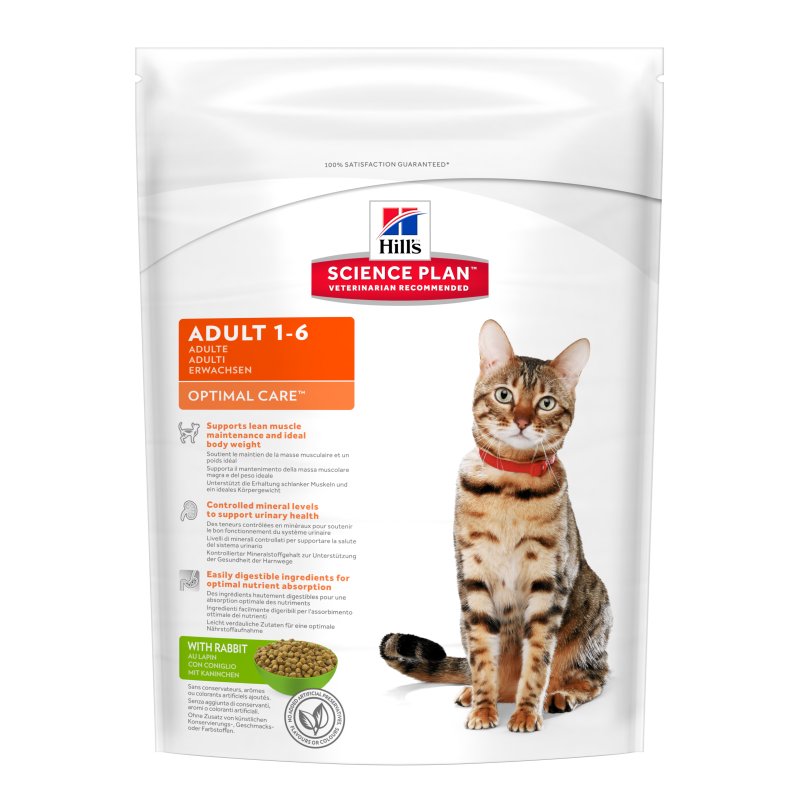 Hill's Science Plan Feline Adult Optimal Care Kanin 400 g