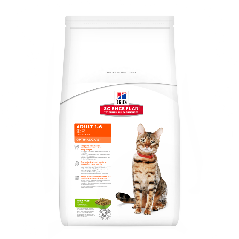 Hill's Science Plan Feline Adult Optimal Care Kanin 2 kg 0052742873909 erfaringer