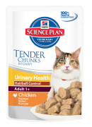 Hill's Science Plan Feline Adult 1+ Urinary Health Hairball Control with Chicken 85 g