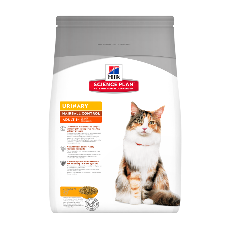 Hill's Science Plan Feline - Adult Urinary Health Hairball Control con Pollo 3 kg
