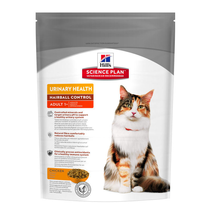 Hill's Science Plan Feline - Adult Urinary Health Hairball Control con Pollo 300 g 0052742003696 opiniones