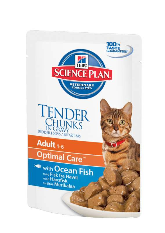 Hill's Science Plan Feline Adult Optimal Care with Ocean Fish in Gravy 85 g