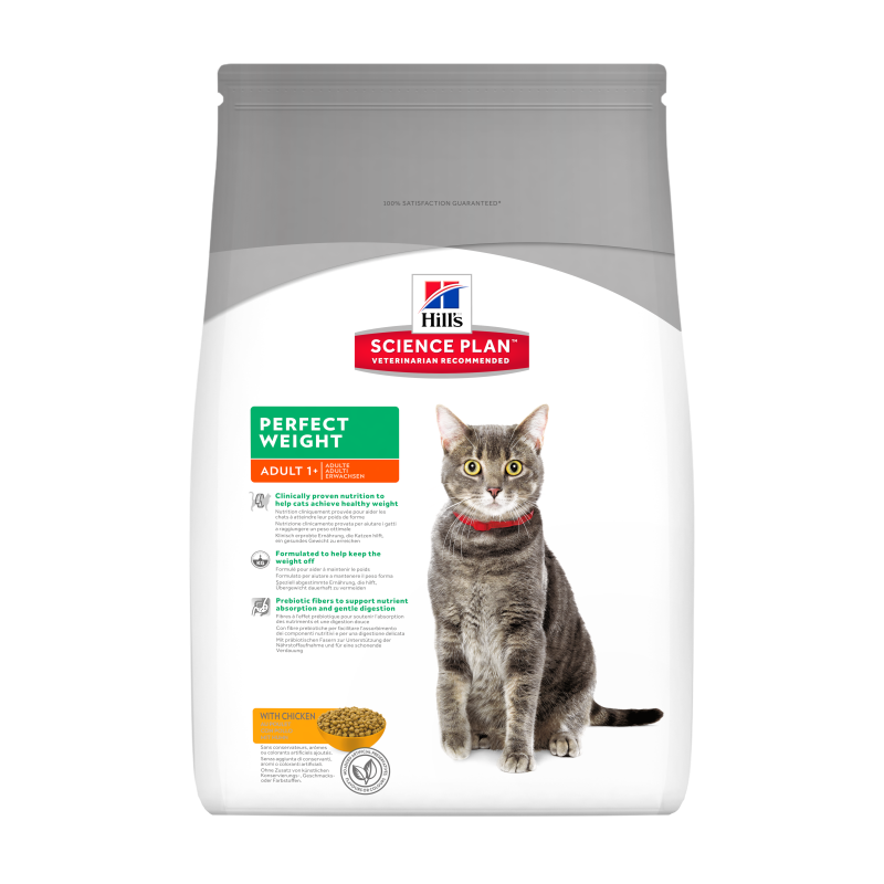 Hill's Science Plan Feline - Adult Perfect Weight con Pollo 3 kg 0052742367200 opiniones