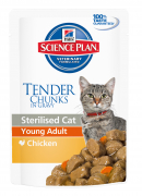 Hill's Science Plan Feline Sterilised Young Adult mit Huhn 85 g Katzenfutter