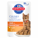 Hill's Science Plan Feline Adult Optimal Care Kana kastikkeessa
