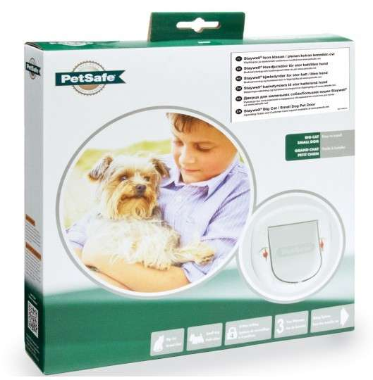 PetSafe Staywell Porte pour Grands Chats/Petits Chiens  Blanc 292x292 mm