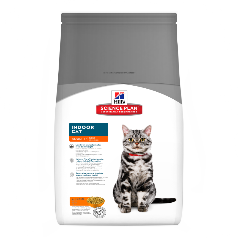 Hill's Science Plan Feline Adult Indoor Cat con Pollo 4 kg, 300 g, 1.5 kg