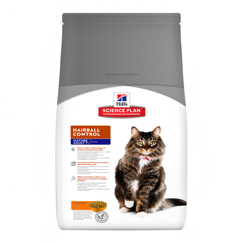 Hill's Science Plan Hairball Control Mature Adult 7+ med Kylling 1.5 kg kjøp billig med rabatt