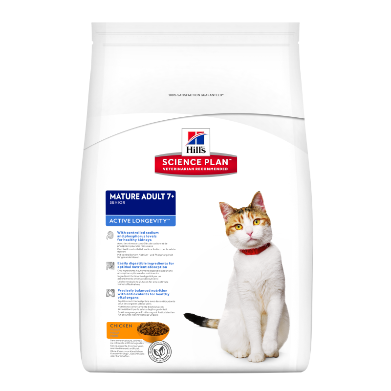 Hill's Science Plan Feline Mature Adult 7+ Active Longevity Kana 5 kg