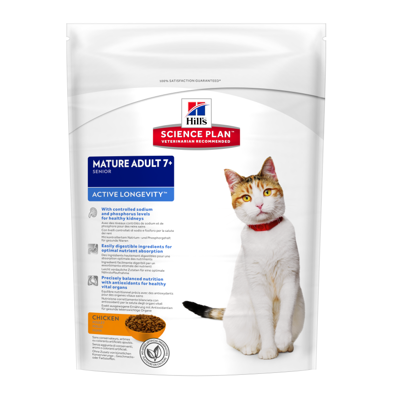 Hill's Science Plan Feline Mature Adult 7+ Active Longevity Kyckling 300 g