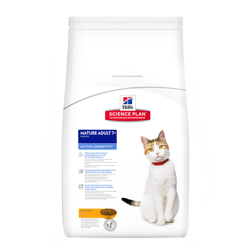 Hill's Science Plan Feline Mature Adult 7+ Active Longevity Kana 2 kg, 5 kg, 300 g, 10 kg