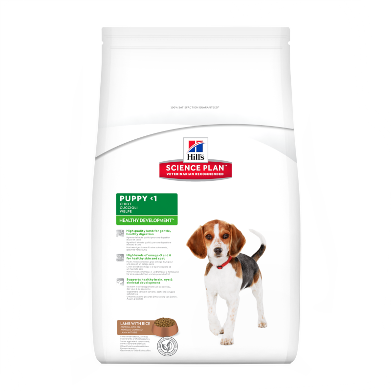Hill's Science Plan Puppy Healthy Development met Lam & Rijst 12 kg 0052742926407