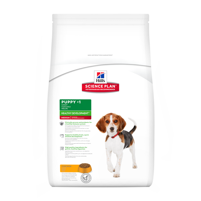 Hill's Science Plan Puppy Healthy Development Medium Kip 12 kg 0052742926407