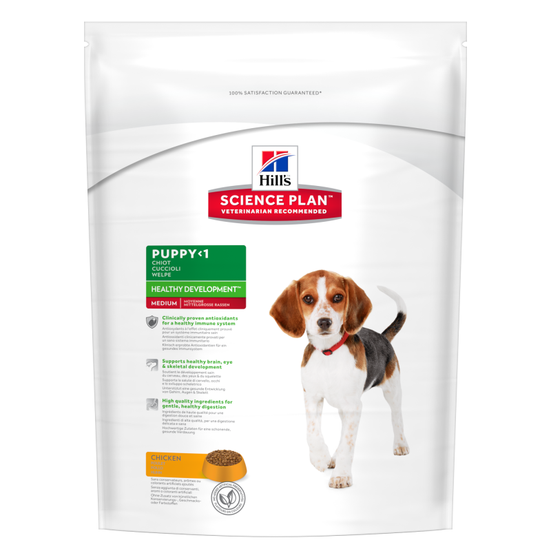 Hill's Science Plan Puppy Healthy Development Medium Kip 12 kg, 1 kg, 3 kg test