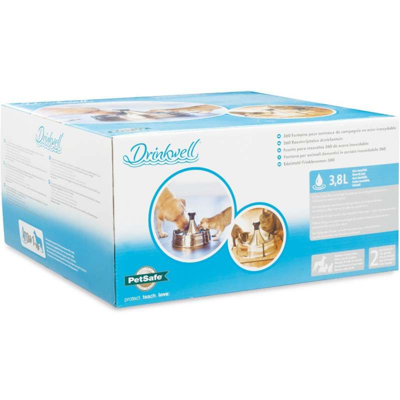 PetSafe Drinkwell 360 Stainless Steel Fountain for dogs and cats  3.8 l  order cheap
