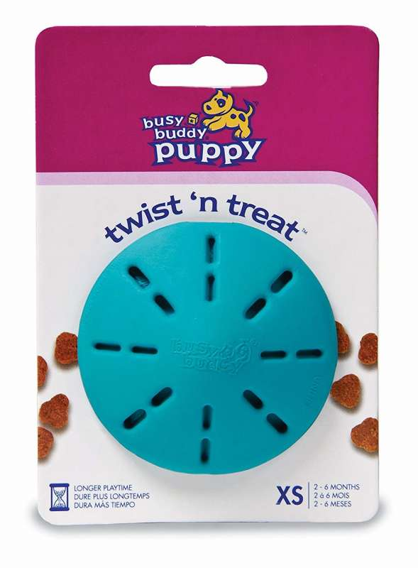 PetSafe Busy Buddy Puppy Twist 'n Treat Azul claro 0729849130128 opiniones