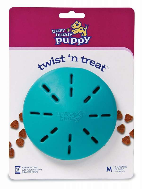 PetSafe Busy Buddy Puppy Twist 'n Treat Azul claro