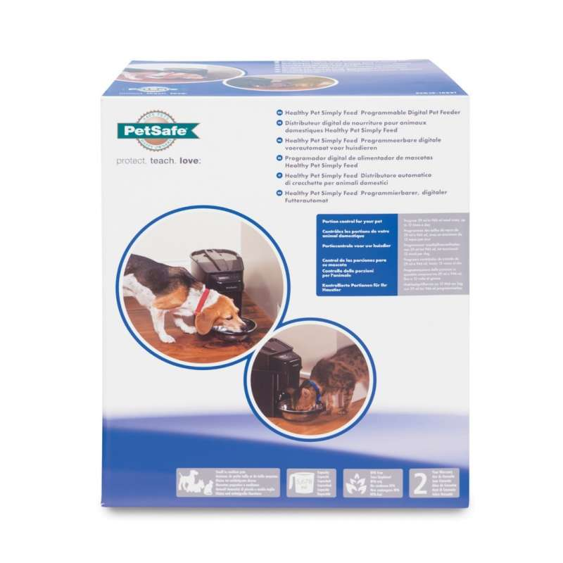 PetSafe Healthy Pet Simply Feed Digital Foderautomat, programmeringsbar  5 678 ml