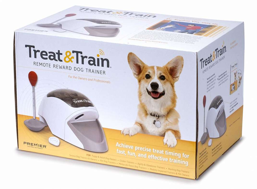 PetSafe Treat & Train dispositif de dressage pour chien par la récompense à distance  Blanc