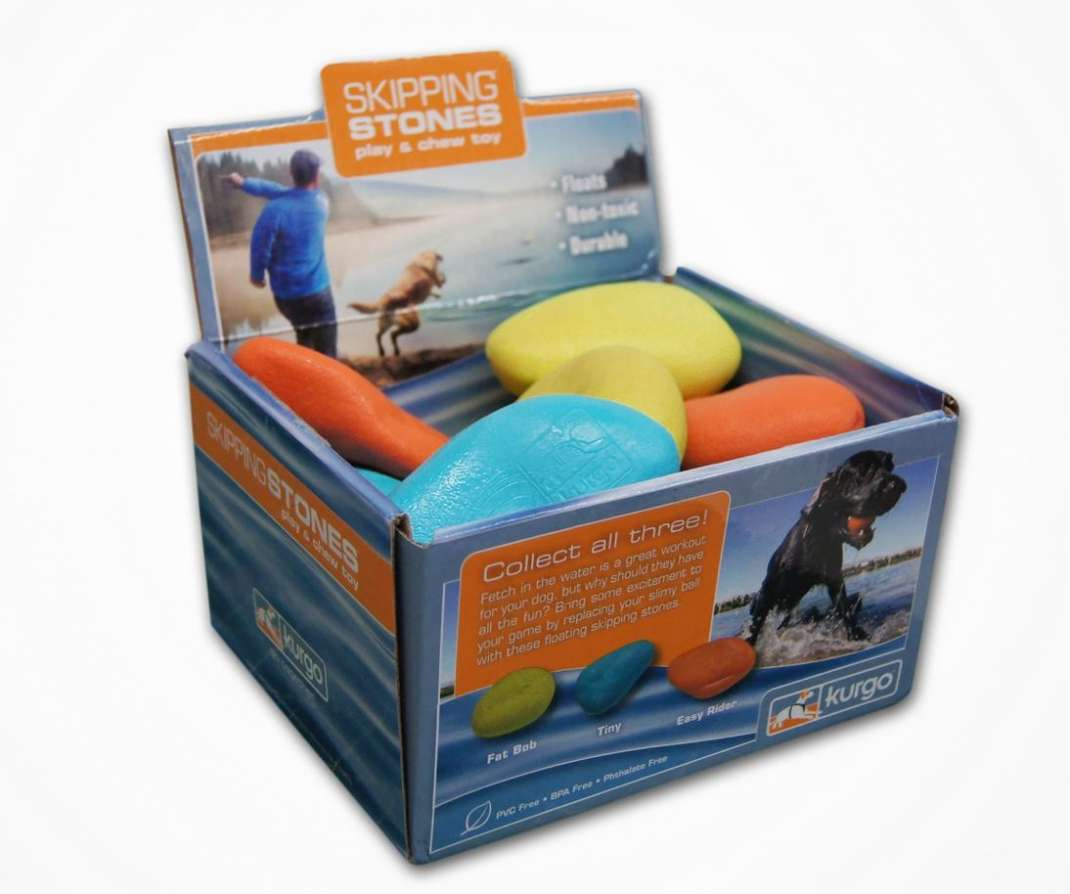 Kurgo Skipping Stones Display, 12 Piezas