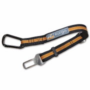 Kurgo Harnais de Sécurité Direct to Seatbelt, noir/orange 38-56 m