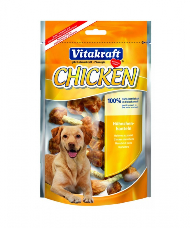 Vitakraft Pure Chicken - Manubri di Pollo 80 g